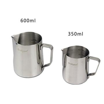 Milk Pitcher, Dailyart 350ml / 12 fl.oz. Edelstahl-Milch-Schalen-Aufschäumen von Milch Pitcher Milchkrug -