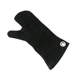Ofenhandschuh Leder schwarz -
