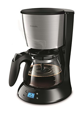 Philips HD7459/20 Daily Filter-Kaffeemaschine, Timer, schwarz/metall -