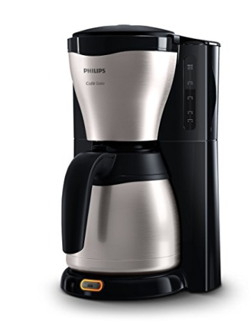 Philips HD7546/20 Gaia Filter-Kaffeemaschine mit Thermo-Kanne, schwarz/metall -