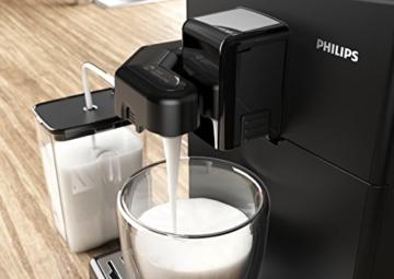 Philips HD8829/01 3000 Serie Kaffeevollautomat, Cappuccino auf Knopfdruck, schwarz -