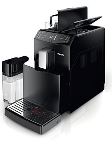 Philips HD8834/01 3100 Serie Kaffeevollautomat, integrierte Milchkaraffe, schwarz -