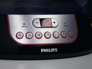 Philips HD9140/91 Dampfgarer (900 Watt, Aromaverstärker, LCD Timer, Zeitschaltuhr) -