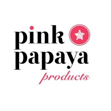 Pink Papaya Schürze, Kochschürze für Frauen und Männer aus 100% Baumwollleinen, Küchenschürze MIA, Farbe: weiß/bunt gestreift mit Spitzenapplikationen -