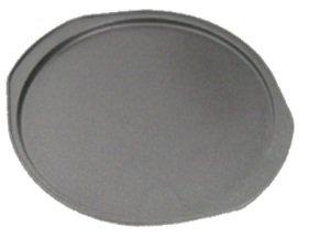 Pizza-Backblech Pizzablech Pizzapfanne Carbon-Stahl Ø 33 x H 2,5 cm Pizzaform grau antihaft-beschichtet -