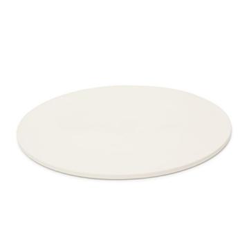 Relaxdays 10019339 Pizzastein für Backofen rund, Baking Stone aus Cordierit für knusprige Steinofenpizza wie in Pizzeria Grillstein für Pizza, Brot und Flammkuchen in Herd und Grill, Durchmesser 33 cm, 1 cm dick, beige -