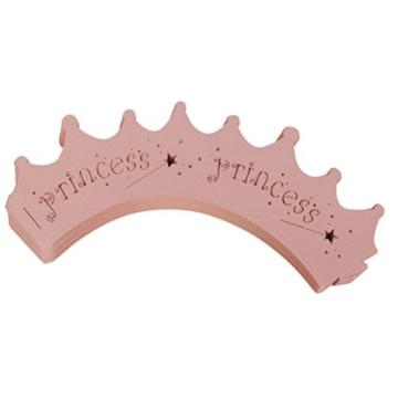 ROSENICE 50 Stück Cupcake Förmchen Muffin Förmchen Papier Backförmchen (Rosa Prinzessin Krone Stil) -