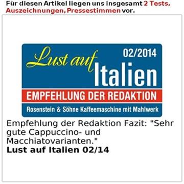 Rosenstein & Söhne Kaffeemaschine KF-615 mit Mahlwerk und Timer; 1,5Liter, 12 Tassen -