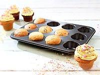 Rosenstein & Söhne Antihaftbeschichtetes Muffinblech für 12 Cupcakes -