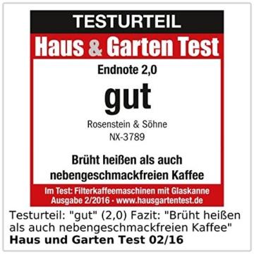 Rosenstein & Söhne Programmierbare Kaffeemaschine KF-316, 1.000 W -