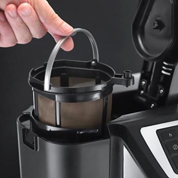 Russell Hobbs 22000-56 Chester Grind und Brew Digitale Glas-Kaffeemaschine, Quiet-Brew-Technologie, integriertes Mahlwerk, programmierbarer Timer -