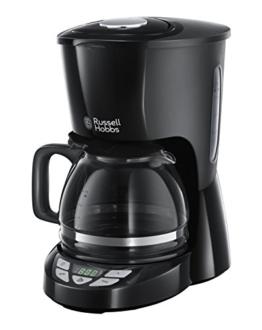 Russell Hobbs 22620-56 Textures Plus Digitale Glas-Kaffeemaschine mit digitalem Bedienelement und programmierbarem Timer -