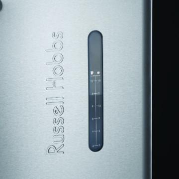 Russell Hobbs Buckingham Grind & Brew 20060-56 Digitale Glas-Kaffeemaschine mit integriertem Mahlwerk schwarz / silber -
