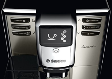 Saeco HD8917/01 Incanto Kaffeevollautomat, AquaClean, integrierte Milchkaraffe, silber -