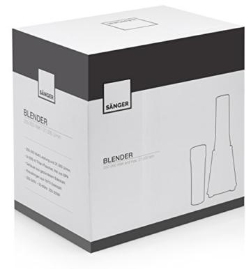 Sänger Smoothie Maker mit starken 300 Watt Leistung 6 tlg. | Bis zu 3 Minuten Dauerlaufzeit | Standmixer mit 21.000 U/min | Inklusive 2x 100% BPA-freie 600 ml Tritan-Trinkflaschen, Bruchfest sowie geschmacks- und geruchsneutral | Scharfe und robuste 4-Fach Edelstahlmessereinheit -