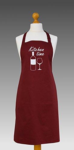 Schürze rot Premium Küchenschürze Kochschürze 100% Baumwolle verstellbares Trägerband -
