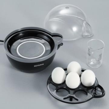 Severin EK 3056 Eierkocher 1-6 Eier, schwarz-grau -