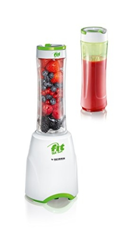 Severin Fit for Fun SM 3735 Standmixer Smoothie Mix und Go, 600 ml, weiß / grün -