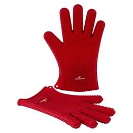 SILBERTHAL Silikon Ofenhandschuhe | Rot | 1 Paar | Hitzebeständig bis 230 °C | Spülmaschinenfest | Grillhandschuhe | Topfhandschuhe & Topflappen -