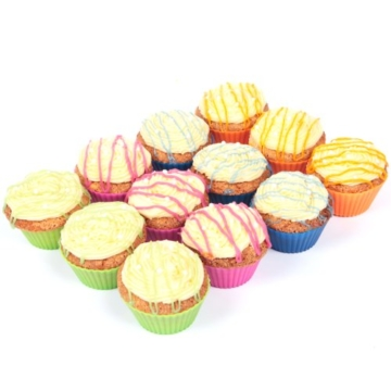 Silikon Backförmchen - Muffinform - Cupcake - 24er Pack - The New York Baking Company - Qualitätsprodukt -