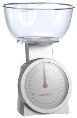 Soehnle 65041 Analoge Küchenwaage Actuell silber/glasklar -