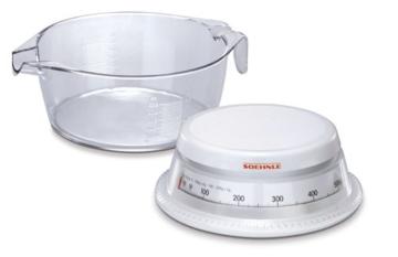 Soehnle 65418 Analoge Küchenwaage Vario weiß/glasklar -