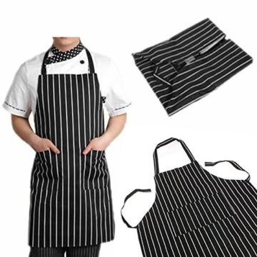 SOLEDI Schürze Kochschürze Streifen Latzschürze Gastronomie Grillschürze Küchenschürze -