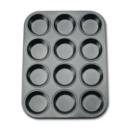 Städter 488069 Muffinform in Geschenkverpackung mit Rezept 12 Formen, Antihaft-Beschichtung, ø 7.0 cm / H 3.3 cm -