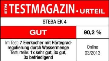 Steba EK 4  Eierkocher / 3 Eier / Klarsichthaube / Eiertray mit Tragegriff -