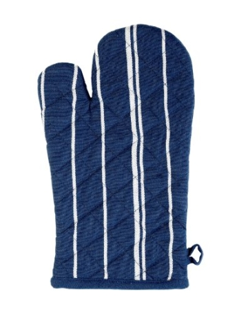 Stuco trends textile 1111-2, 1 Stück Ofenhandschuh gestreift, circa 19 x 32 cm, 100% Baumwolle, marine-weiß -