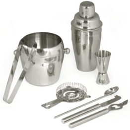 TecTake® Cocktailshaker Cocktail Set 8-teilig Shaker Bar Mixer -