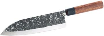 TokioKitchenWare Kochmesser mit Echtholzgriff, handgeschmiedet -