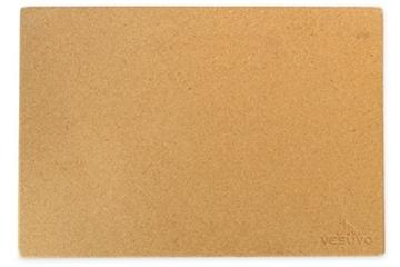 Vesuvo V45351 Pizzastein XXL für große Grills aus Cordierit bis 1000 Grad Celcius, 45 x 35 x 1,5 cm -