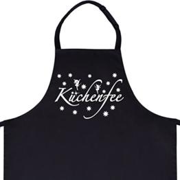 "Wandkings Schürze ""Küchenfee"" - Grillschürze - Küchenschürze - Kochschürze - Latzschürze mit verstellbarem Nackenband -"