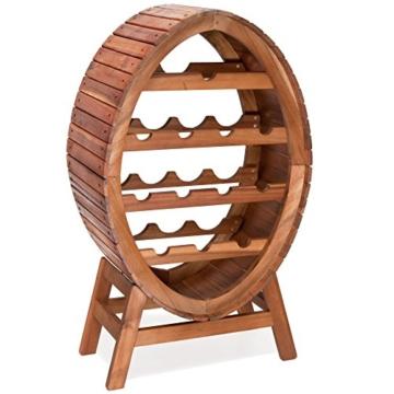 Weinregal für 12 Flaschen aus Holz im stilvollem Design Weinständer Weinfass Flaschenregal Fass Flaschenständer -
