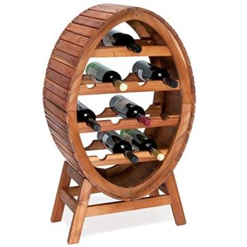 Weinregal Für 12 Flaschen Aus Holz Im Stilvollem Design Weinständer
