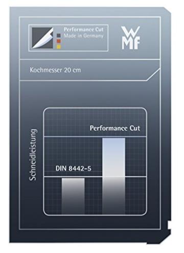 WMF Kochmesser Grand Class Länge 35 cm Klingenlänge 20 cm Performance Cut Made in Germany geschmiedeter Spezialklingenstahl fugenlos vernieteter Griff aus Kunststoff -