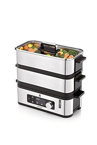 WMF KÜCHENminis Dampfgarer, BPA-frei, 2 Garräume mit 2,15 l,  inkl. Schale, Warmhaltefunktion, cromargan matt/silber -
