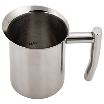 Xavax Milchkännchen zum Aufschäumen von Milchschaum, Edelstahl, silber, 400 ml -