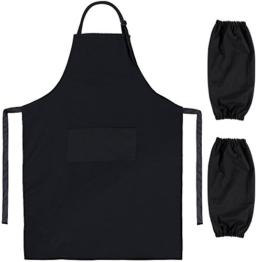 Zacro BBQ Grillschürze Küchenschürze für Männer und Frauen mit Ärmelschoner -