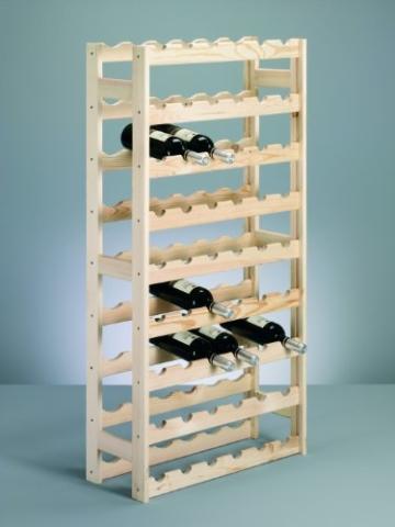 Zeller 13165 Flaschenregal für 54 Flaschen, Kiefer / 67,5 x 25 x 118 -