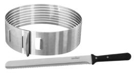 Zenker 7704 Tortenboden-Schneidhilfe mit Konditor-/Glasurmesser, patisserie -