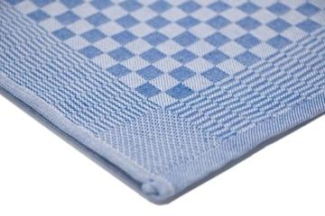 ZOLLNER® 10er-Set Geschirrtuch / Küchenhandtuch / Handtuch für Küche 46x90 cm weiß/blau Karo, direkt vom Hotelwäschespezialisten, Serie