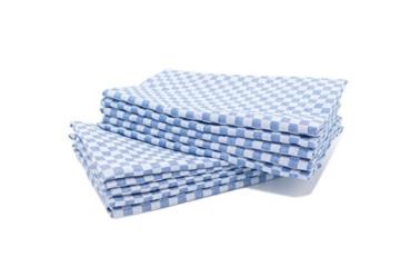 """ZOLLNER® 10er-Set Geschirrtuch / Küchenhandtuch / Handtuch für Küche 46x90 cm weiß/blau Karo, direkt vom Hotelwäschespezialisten, Serie """"Global"""" -"""
