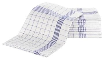 """ZOLLNER® 10er Set Geschirrtücher 50x70 cm aus 100% Baumwolle, blau-weiß-kariert, in weiteren Farben erhältlich, in Gastronomiequalität, Serie """"Kitty"""" -"""