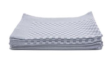 ZOLLNER® 10er-Set Küchenhandtuch / Handtuch für Küche 10×10 cm anthrazit,  in weiteren Farben erhältlich, direkt vom Hotelwäschespezialisten, Serie
