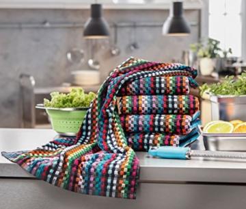ZOLLNER® 5er-Set Küchenhandtuch / Handtuch 45x90 cm bunt für Küche, direkt vom Hotelwäschespezialisten, Serie
