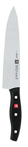 Zwilling Twin Pollux Kochmesser, 200 mm (Rostfreier Spezialstahl, Zwilling Sonderschmelze, genietet, Vollerl, Kunststoff-Schalen) schwarz -
