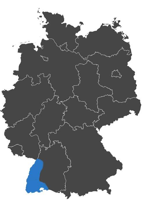 deutschlands wein region - grafik wein anbau region baden