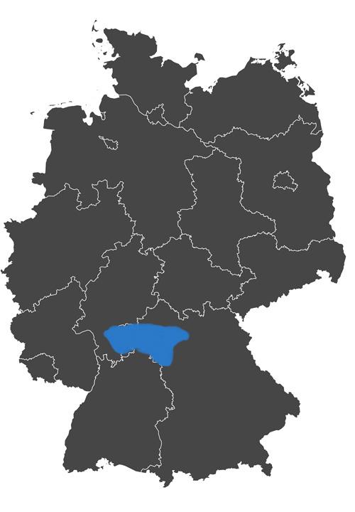 deutschlands wein region - grafik wein anbau region franken